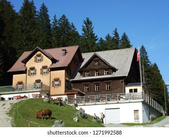 Berggasthaus Plattenbödeli or Mountain Restaurant Samtisersee - Canton of Appenzell Innerrhoden, Switzerland