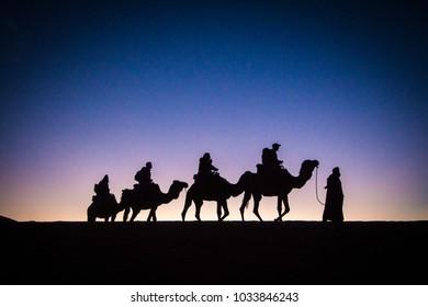 beriberi's silhouete on sahara