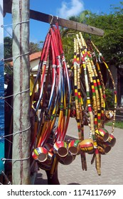 Berimbau, string instrument used in Brazil, to accompany the dance of capoeira
