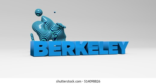 BERKELEY - 3D rendered colorful headline illustration.  Can be used for an online banner ad or a print postcard.