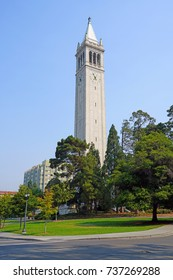 BERKELEY, CA -1 SEP 2017- Built in 1914, the Sather Tower, known as The Campanile, is the most famous landmark on the campus of the University of California, Berkeley.