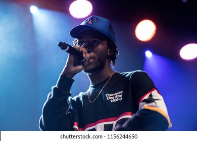 BERKELEY, CA - AUGUST 13, 2018: SABA in concert at The UC Theatre in Berkeley, CA