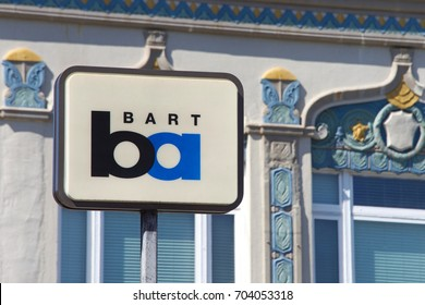 Berkeley, CA - August 27, 2017: Entrance to BART station downtown Berkeley. Bay Area Rapid Transit is a public transportation elevated and subway system serving the San Francisco Bay Area