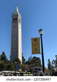 Berkeley Ca October 16 2018:university of California Berkeley campus and famous tower