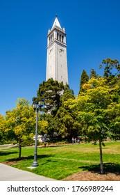 Berkeley, CA, USA - August 6, 2019: Sather Tower at the University of Berkeley
