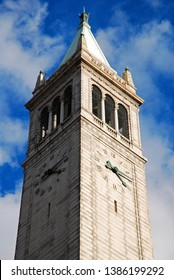 Berkeley, CA, USA February 21, 2011 The Sather Campanile, rises over the campus of the University of California, in Berkeley, California