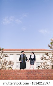 Berkeley, CA / USA - May 17th, 2018: Graduate/Engagement Portrait Session on Campus at UC Berkeley