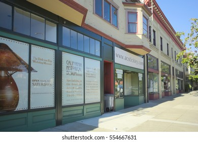 BERKELEY, CALIFORNIA - JANUARY 1, 2017: California Historical Design features furniture from the Arts and Crafts movement. The store recently moved because the Lorin district is gentrifying.
