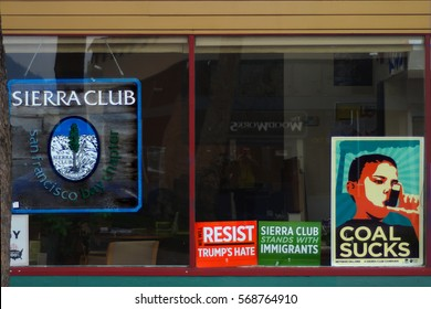 BERKELEY, CALIFORNIA - JANUARY 31, 2017: The Berkeley headquarters of the Sierra Club. The organization is working against new policies on oil pipelines.