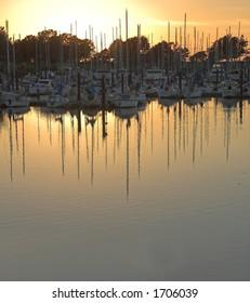 Berkeley, California Marina at sunset.