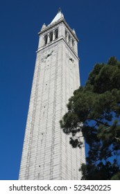 BERKELEY, CALIFORNIA - NOVEMBER 23, 2016: Sather Tower or the The Campanile, designed by John Galen Howard, is a landmark structure at the University of California campus.