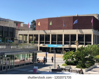 BERKELEY, CALIFORNIA - SEPTEMBER 21, 2018: Zellerbach Hall is a multi-venue performance facility on the campus of the University of California, Berkeley, west of Lower Sproul Plaza.