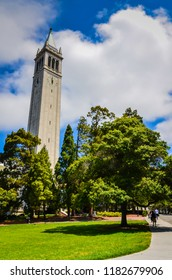 Berkeley, California / USA - July 17, 2012: Sather Tower is a campanile on the University of California, Berkeley campus, it is UC Berkeley's most recognizable symbol.