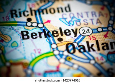 Berkeley. California. USA on a map