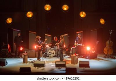 Berkeley, CA/USA - 4/23/2016: Grammy winner Chris Stapleton performs at the Greek Theatre in Berkeley, CA.