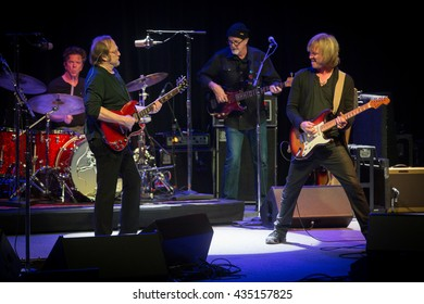 Berkeley, CA/USA - 6/2/2016 : The Rides (L-R) Chris Layton , Stephen Stills  , Kevin McCormick and Kenny Wayne Shepherd perform in Berkeley, CA at The UC Theatre.