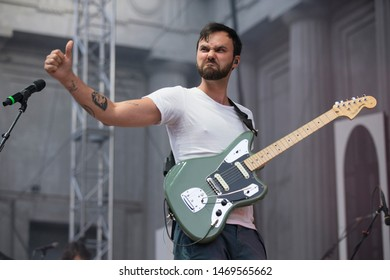 Berkeley, CA/USA: 8/2/19: Shakey Graves (born Alejandro Rose-Garcia ) performs at The Greek Theatre. His music combines blues, folk, and rock and roll.