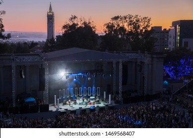 Berkeley, CA/USA: 8/2/19: Shakey Graves  plays at The Greek Theatre. An 8,500-seat amphitheater owned and operated by the University of California. Built in 1903 financed by William Randolph Hearst.