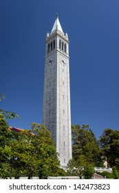 BERKELEY, CA/USA - JUNE 15: Historic Sather Tower overlooking the University of California at Berkeley is the third largest bell tower in the world. June 15, 2013.