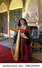 Berkeley, England - May 6, 2018: King Henry VIII and his six wives in Berkeley Castle. The history played out within Berkeley Castle's walls make it one of the most remarkable buildings in Britain.