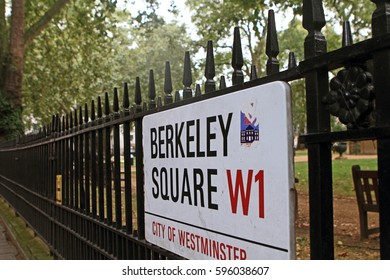 Berkeley Square street sign