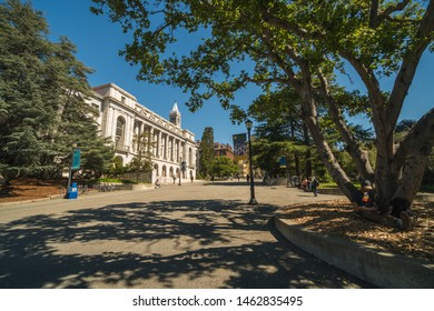 Berkeley, USA / MARCH 18 2019: View of the University of California, Berkeley on a sunny day