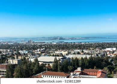 Berkeley view from the Campanile, California Berkeley,California,USA - October 26, 2016 : View of Berkeley and the Bay Area from the Sather Tower