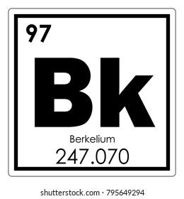 Berkelium chemical element periodic table science symbol