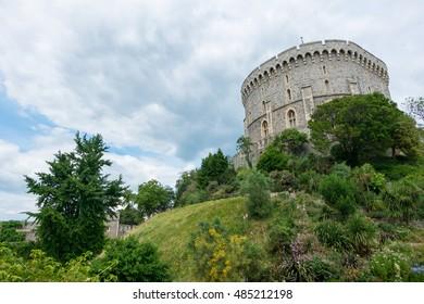 Berkshire, England - 21 July 2016 : Windsor castle, Berkshire, United Kingdom on 21 July 2016