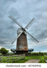 Berkshire Windmill on a Cloudy Day