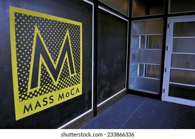 Berkshires, MA, USA -September. 4. 2010: Massachusetts Museum of Contemporary Art (Mass MoCA) in North Adams, Massachusetts