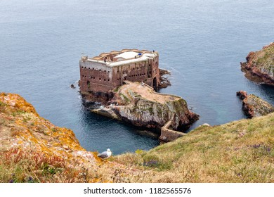 Berlengas Islands, Portugal - May 21, 2018: Forte deS ao Joao Baptista, John Baptist of Berlengas, a fortification on one of the Berlangas Islands