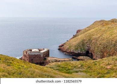 Berlengas Islands, Portugal - May 21, 2018: Forte de Sao Joao Baptista, John Baptist of Berlengas, a fortification in the middle of the sea. ,