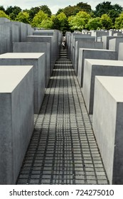 Berlin, 16 august 2016 - Jewish Holocaust Memorial monument in the city of Berlin