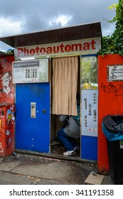 Berlin, 20 September 2015: Photoautomat photobooth in center
