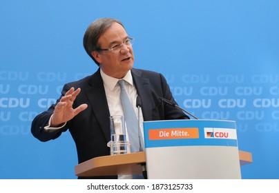 Berlin, 2017-05-15: The Prime Minister of  North Rhine Westphalia, Armin Laschet speaks at the Konrad-Adenauer-House in Berlin