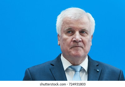 BERLIN, 2017-07-03 Horst Seehofer (CSU), prime minister of Bavaria, at a press conference in Berlin