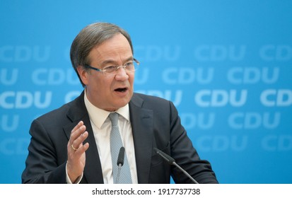 Berlin, 2017-11-01: Armin Laschet speaks at the party headquarters of the CDU in Berlin