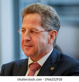 Berlin, 2018-09-12: Hans Georg Maaßen pictured at a meeting in Berlin