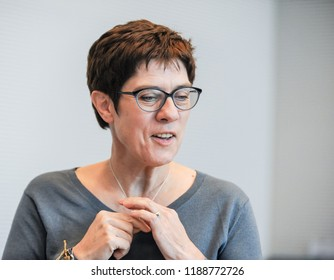 Berlin, 2018-09-25: The Generel Secretary of the CDU, Annegret Kramp-Karrenbauer takes part at the faction meeting of her party at the Bundestag in Berlin