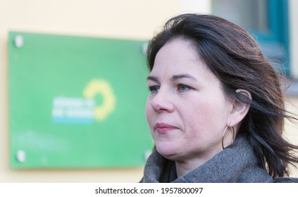 Berlin, 2019-01-14:  Annalena Baerbock pictured at the party headquarters in Berlin