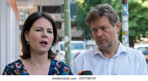 Berlin, 2019-06-03:  Annalena Baerbock and Robert Habeck pictured at the party headquarters in Berlin