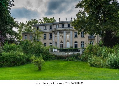Berlin 2021: House of the Wannsee Conference (Haus der Wannseekonferenz). View from the garden to the Villa, where the Wannsee Conference was held in 1942. Now it's a Holocaust memorial and museum.