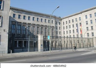 BERLIN, 24 MARCH: Detlev Rohwedder House (Detlev-Rohwedder-Haus), house of the German Finance Ministry (Bundesministerium der Finanzen) on 24 March 2015 in Berlin, Germany