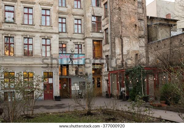 Berlin 28 January Clarchens Ballhaus Auguststrasse Stock