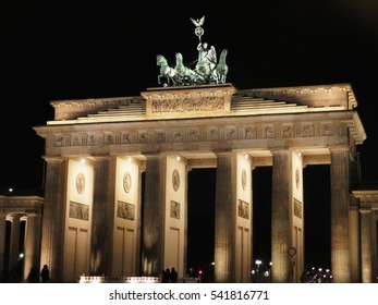 BERLIN - APRIL 2: Brandenburg Gate on April 2, 2014 in Berlin. Brandenburg Gate is a monumental gate built in the eighteenth century as a symbol of peace.
