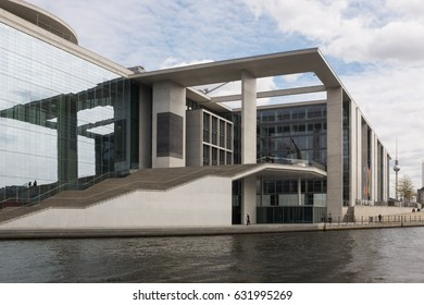 "BERLIN, APRIL 24TH: The Marie-Elisabeth-Lüders-Haus in the ""Regierungsviertel"" in Berlin Mitte on April 24th, 2016."