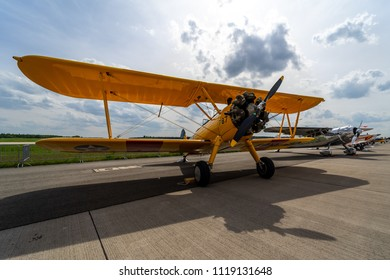 Boeing-stearman Model 75 Biplanes Images, Stock Photos