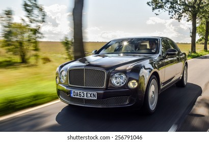 BERLIN - AUGUST 2014: Bentley Mulsanne at the test drive event for automotive journalists from Eastern Europe.