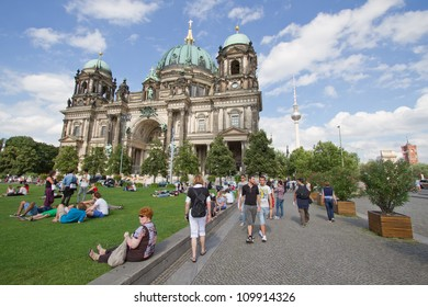 BERLIN, AUGUST 6: Berliner Dom,or Berlin Cathedral. on August 6, 2012.  It was built between 1895 and 1905. The current building replaced in 1894.